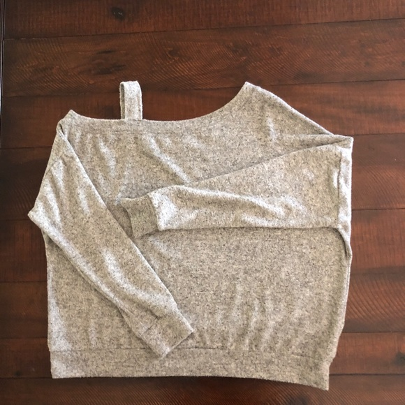 coin 1804 Sweaters - Coin 1804 One Shoulder Dolman Long Sleeve Sweater